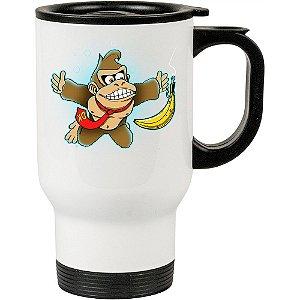 Caneca Térmica Donkey Kong Banana 500ml Branca