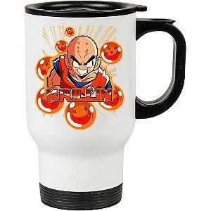 Caneca Térmica Dragon Ball Kuririn 500ml Branca
