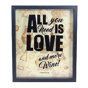 Quadro Coleção de Rolhas All Is Love