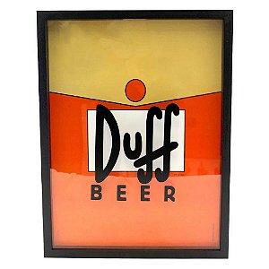 Quadro Coleção de Tampas Duff