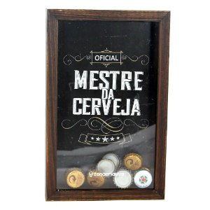Quadro Coleção de Tampas Mestre da Cerveja