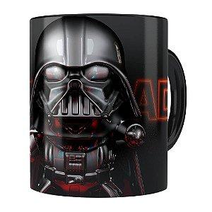 Caneca Darth Vader 3D Print Star Wars Orange Preta