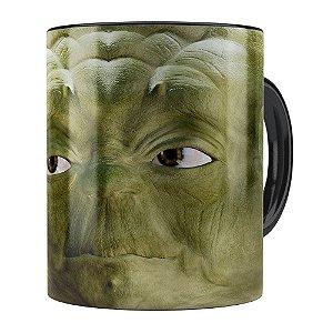 Caneca Mestre Yoda 3D Print Star Wars Preta