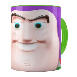 Caneca Buzz Lightyear 3D Print Toy Story Verde