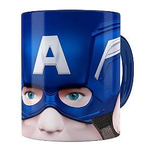 Caneca Capitão America 3D Print Azul Escuro