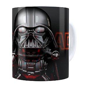 Caneca Darth Vader 3D Print Star Wars Darth Orange Branca