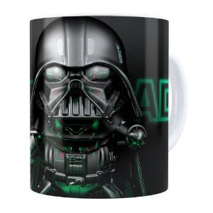 Caneca Darth Vader 3D Print Star Wars Green Branca