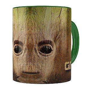 Caneca Groot 3D Print Guardiões da Galaxia Verde Escuro