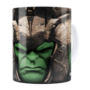 Caneca Hulk 3D Print Avengers Ragnarok Branca