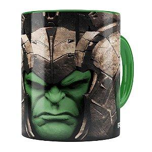 Caneca Hulk 3D Print Avengers Ragnarok Verde Escuro