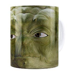 Caneca Mestre Yoda 3D Print Star Wars Branca