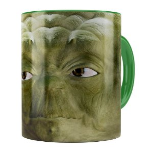 Caneca Mestre Yoda 3D Print Star Wars Verde Escuro