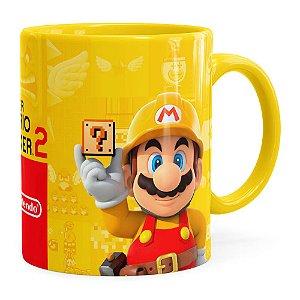 Caneca 3D Print Super Mario Maker 2 Amarela