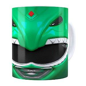 Caneca Ranger Verde 3D Print Power Rangers Branca