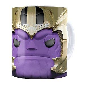 Caneca Thanos 3D Print Vingadores Branca