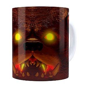 Caneca Tibbers 3D Print League of Legends Branca