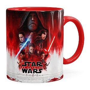 Caneca Star Wars The Last Jedi 3D Print Vermelha