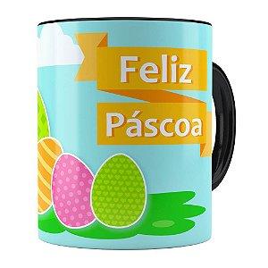 Caneca Feliz Páscoa v03 Preta