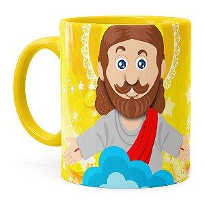 Caneca Páscoa Verdadeiro Significado é Jesus v02 Amarela