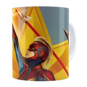 Caneca Capitã Marvel Filme v06 Branca