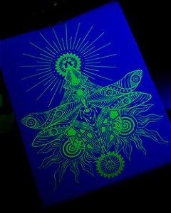 Adesivo Libélula Verde Neon