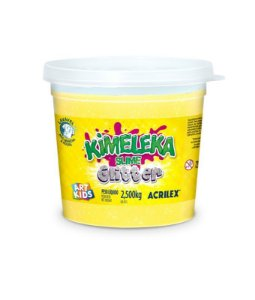 BALDE SLIME KIMELEKA GLITTER AMARELO 2,5KG ACRILEX
