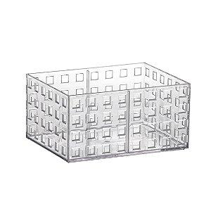 ORGANIZADOR EMPILHAVEL QUADRATTA 16 X 11,5 X 8 CM