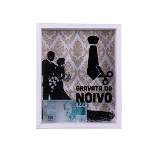 QUADRO COFRE GRAVATA DO NOIVO - ARTFRAME
