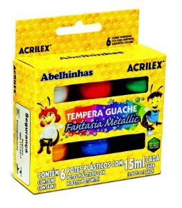 GUACHE FANT METALLIC C/6UN  ACRILEX