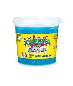 BALDE SLIME KIMELEKA GLITTER AZUL 2,5KG ACRILEX