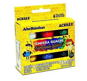 GUACHE FANTASIA GLITTER C/6UN  ACRILEX