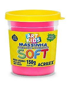 MASSINHA DE MODELAR SOFT ROSA MARAVILHA 150G ACRILEX