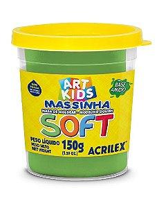 MASSINHA DE MODELAR SOFT VERDE 150G ACRILEX