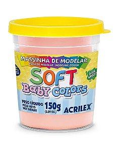 MASSINHA DE MODELAR SOFT SALMÃO BEBE BABY COLORS 150G ACRILEX