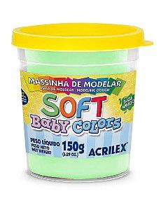 MASSINHA DE MODELAR SOFT VERDE BEBE BABY COLORS 150G ACRILEX