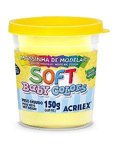 MASSINHA DE MODELAR SOFT AMARELO BEBE BABY COLORS 150G ACRILEX