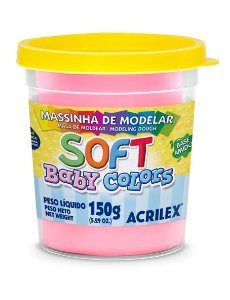 MASSINHA DE MODELAR SOFT ROSA BEBE BABY COLORS 150G ACRILEX