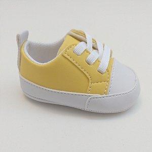 0fa08e2bd Tênis Baby Cadarço Amarelo
