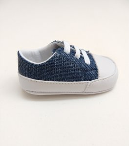54963fb5a Tênis Baby Cadarço Jeans