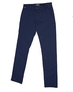Calça de Sarja Azul Marinho Modelo Bolso Faca