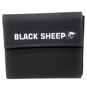 Carteira Black Sheep Velcro Material Sintético Preto Skate