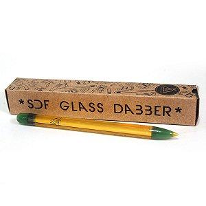 Pinça de Vidro Glass Dabber Squadafum Lápis SDF 11,5cm