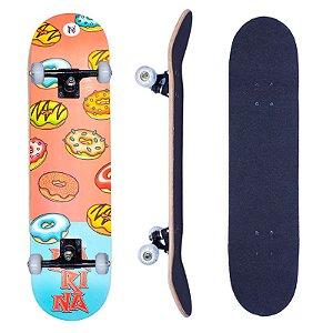 Skate Infantil Narina Feminino Iniciante Completo 7.75 Donuts