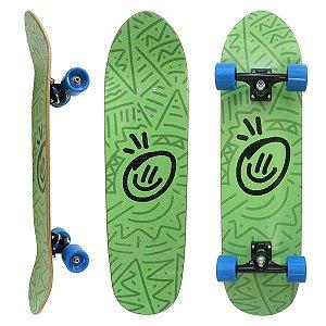 """Skate Hondar Cruiser Maple Montado 31.5 x 8.5"""" Smile Verde"""