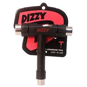 Chave Manutenção Skate Dizzy Wheels T Multifuncional Preto