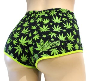 Short Cannabis Preto e Verde Ray Brown