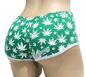 Short Cannabis Verde e Branco Ray Brown