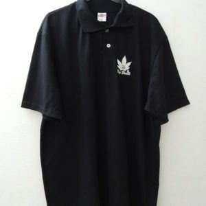 Camisa Polo Cannabis Indica Preta Ray Brown