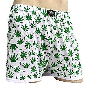 Cueca Samba Canção Cannabis Branca e Verde Ray Brown