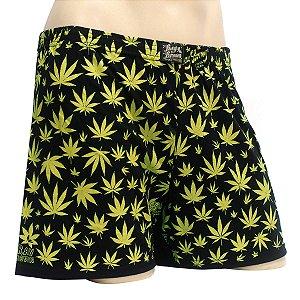 Cueca Samba Canção Cannabis Preta e Verde Ray Brown